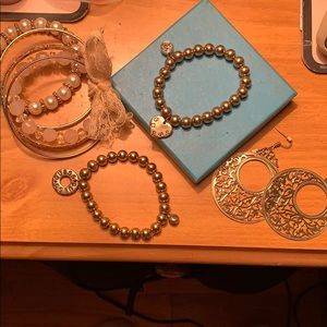 Guess bracelets and bangles and earrings